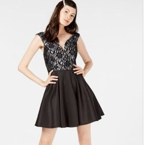 City Studio A-Line Dress Black Size 13